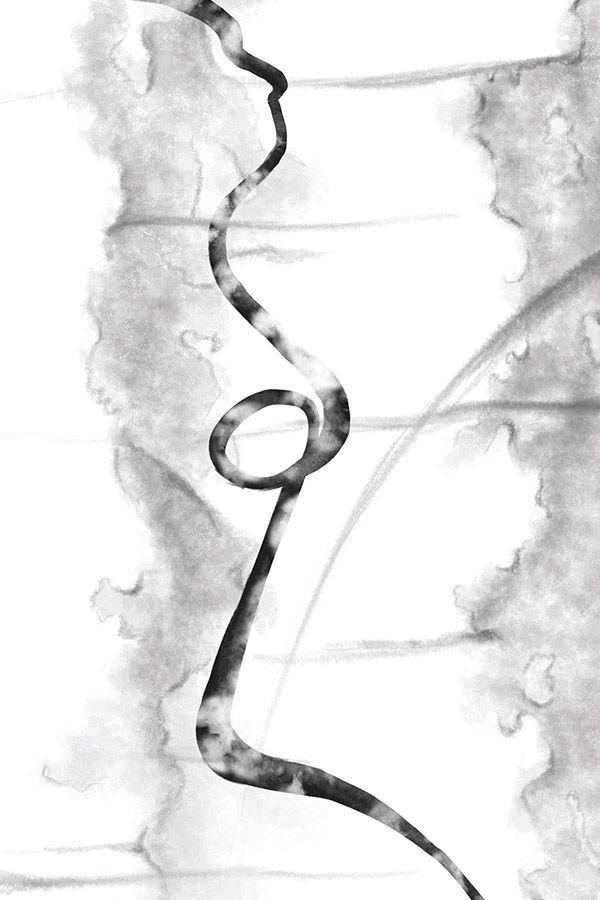 abstrakt konst abstract line